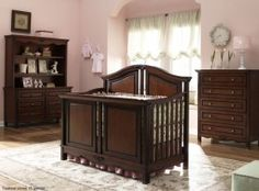 Liberty Collection in Charleston Cherry Everything Baby, Baby Cribs, Nursery Rhymes, Baby Room, Liberty, Furniture Design, Storage, Bed, Nurseries