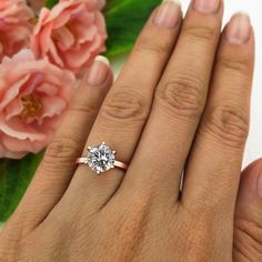 2 ct 6 Prong Engagement Ring Solitaire Ring Man by TigerGemstones