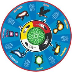 Bead Embroidery Mandala   Ojibwe seven teachings