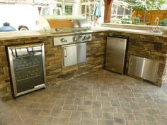 Tremendous Houston Tx Outdoor Kitchens with Kitchen Wine Cooler and Stainless Sink with Double Handle Kitchen Faucet