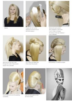 The Bow  Hair by Anne Veck Creative Hairstyles, Fancy Hairstyles, Wig Hairstyles, Crazy Hair, Hair Art, Hair Up Styles, Natural Hair Styles, Hair Designs, Runway Hair