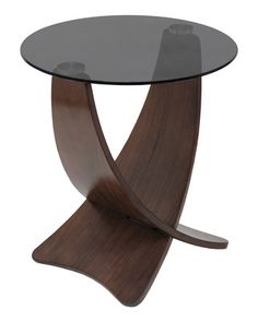 mid century modern meets gentlemen's club with the smoky glass top