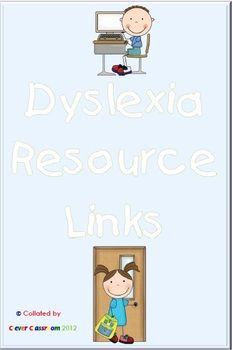 FREE Dyslexia Resource Links A 6 page free resource full of links to Facebook pages, websites, YouTube Videos and articles. This is the first free file and our next target will be Autism Spectrum Disorders ADS).    This freebie was designed to support our weekly post on our Facebook page.