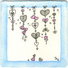 カワイイ beautiful houses in california - House Beautiful Zentangle Drawings, Doodles Zentangles, Doodle Drawings, Heart Doodle, Zen Doodle, Doodle Patterns, Zentangle Patterns, Doodle Borders, Art Postal