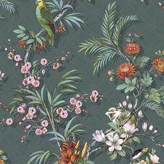 Nappes Papier Peint Blanc Fleurs Mur en Béton alt Coloré Papier peint XXL nappes papier peint