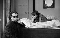 Jean-Luc Godard and Anna Karina photographed by Giancarlo Botti, 1960s
