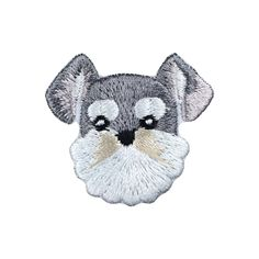 Cute+Dog+Schnauzer+Patch+Embroidered+Cartoon+Animal+Sew+on+Iron+on+Patches ❤Made+Tough+and+Durable. ❤Iron-on+Backing,+High+quality+full+embroidered+patch. ❤Customer+Satisfaction,Warranty+pay+back. Merit Badge, Embroidered Patch, Indie Brands, Schnauzer, Iron On Patches, Cute Dogs, Quilt Patterns, Teddy Bear, Cartoon