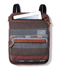 Hex Westmore convertible 13-inch Sleeve: Tweedy canvas and cushy padding, with straps that convert from backpack to cross-body to tote. Fits up to a 13-inch laptop.