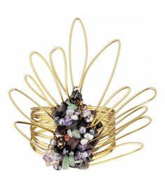 "Bracelet ""Peacock"" - Private Suite #statement #bracelet #amazing"