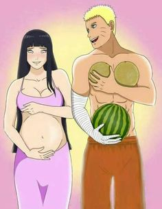 This is kinda cute and funny. Even though Hinata is an anime character, I still think she looks really good as a pregnant woman. I have this feeling that I'm gonna look like I'm hiding a water melon under my shirt haha