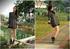 (by Uli Chan) http://lookbook.nu/look/2043521-Over-the-sidewalks-running-away-from-the-streets-we-knew  Doc Marten, Mary Janes