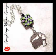 Halloween Jewelry  Horror Necklace  by LaughingVixenLounge on Etsy, $22.00