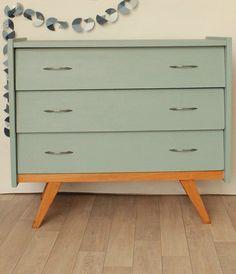 Commode années 60/70 tiroirs décalés | Déco | Pinterest