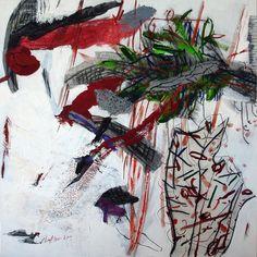 Spuren des Chlorophylls. 2011, Eitempera/Tusche auf Leinwand, 130  x 130 cm, Eitempera und Tusche auf Leinwand