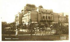 Hordaland fylke Bergen  Theatret 1920-tallet Utg C. A. Erichsen