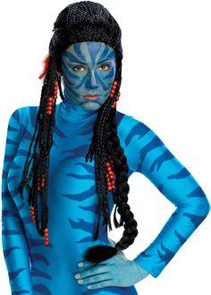 Neytiri Wig Avatar Na'vi Black Fancy Dress Up Halloween Adult Costume Accessory Costume Halloween, Halloween Costume Accessories, Costume Wigs, Halloween Kostüm, Avatar Costumes, Adult Costumes, Costumes For Women, James Cameron, Avatar Film