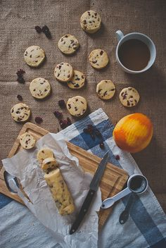 Cranberry Orange Shortbread Cookies. I think A would really like these. (I'm not really a fan of cranberries OR shortbread!)
