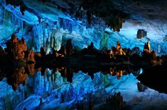 Cave of the Crystals or Giant Crystal Cave  is a cave connected to the Naica Mine 980 ft below the surface in Naica,Chihuahua, Mexico.