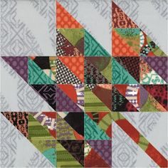 Moose on the Porch Quilts: Autumn Glory Quilt Block