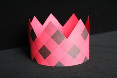 Letterpress Red Plaid Party Crown