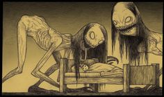 You Won't Get a Wink of Sleep Tonight After Seeing these Nightmare Inducing Drawings of Monsters!