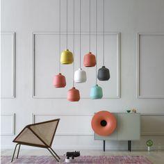 Luminária pendente de cerâmica KIKI by Miniforms design Paolo Cappello