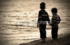 2 lirtle boys photography | Two little boys playing at the beach | Stock Photo © smikemikey1 ...