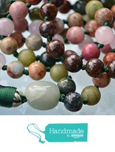 Heart Chakra Rose Quartz Moss Agate Aventurine Bronzite Jade Unakite Serpentine Rhodonite 108 Knotted Mala Beads for Unconditional love, Forgiveness Trust Child Birth Compassion Insomnia -USA Seller from AwakenYourKundalini https://www.amazon.com/dp/B01FNN8JVU/ref=hnd_sw_r_pi_dp_mf.hybNA79ZT3 #handmadeatamazon