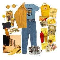 """""""yellow wolley"""" by nadyaarw ❤ liked on Polyvore featuring Barneys New York, Converse, Fjällräven, Blue Q, MANGO, Hakusan, Royce Leather and Pier 1 Imports"""