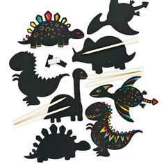 maak ontwerp je eigen prehistorische dinosaurus kraskunst magneten creatieve knutselpakket voor kinderen om in
