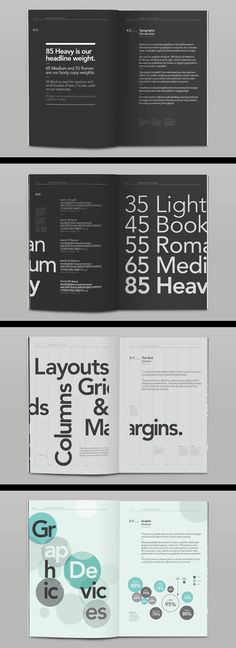 negative space - a lot of space for interpretation --- how to use the corporate font...