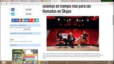 Skype lanzara traductor de voz en tiempo real