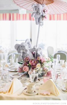 Pink & Grey Elephant Themed Baby Shower; Interlachen Country Club, Minneapolis, Minnesota » Minneapolis Photographer – Wedding & Baby I Koka...