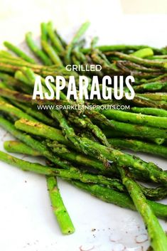 For all my asparagus lovers out there...Grilled Asparagus is a perfect side for dinner this week.  It is so good my nephew even liked it!! . #grilled #asparagus #summer #summerfun #summergrilling #sparklesnsprouts