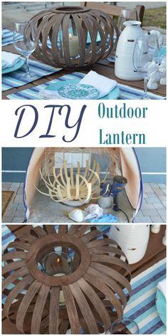 DIY outdoor lantern pinterest image
