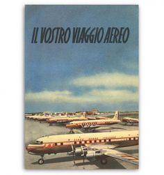 Lai, Linee Aeree Italiane, poster pubblicitario - advertisement posters