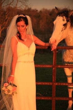 Bride with horse Briar Patch