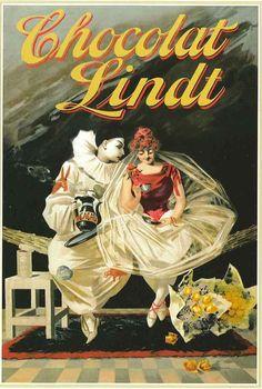 Vintage Lindt poster