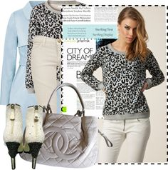 """Animal Print Top"" by wear-it ❤ liked on Polyvore"