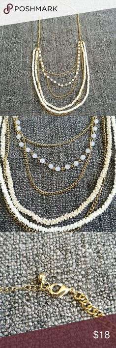 Maurices Layered Necklace Multiple textures and designs layered for a classy look. Maurices Jewelry Necklaces