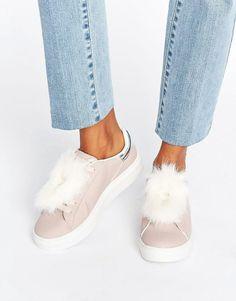 Blink | Blink – Sneakers mit Fellbesatz