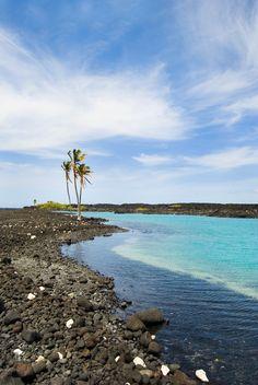 Hidden Turtle Lagoon on the Big Island HI #travel #HI