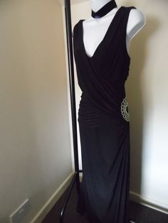 2a8f96610a4e STUNNING LADIES RUCHED EMBELLISHED EVENING MAXI DRESS SIZE 16/18 Things To  Buy, Size