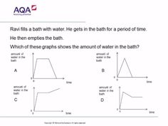 Real Life Graphs | Diagnostic Questions Free Quizzes, Math Quizzes, Gcse Math, Maths, Aqa, Real Life, Exercises, This Or That Questions, Signs
