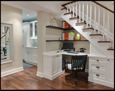 If staircase lands in the breakfast nook