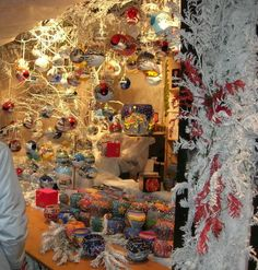 Christmas Market Window in France