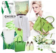 """Green Princess"" by ansev ❤ liked on Polyvore"