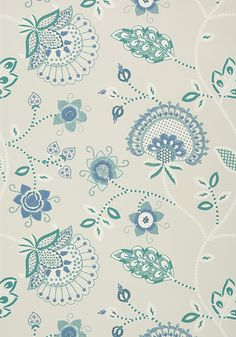 PORTOFINO, Blue and Aqua, T24301, Collection Bridgehampton from Thibaut