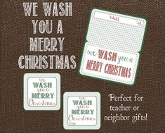 We Wash You A Merry Christmas Gift Tags and by LilacsAndCharcoal