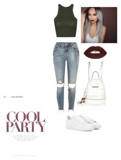 """""""Look 13 /oneshot"""" by alcantarap on Polyvore featuring moda, River Island, Topshop e adidas"""
